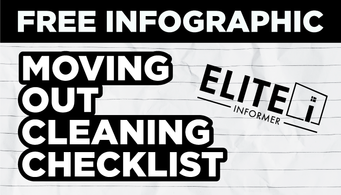 FREE Infographic - Moving Out Cleaning Checklist
