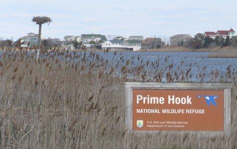 PrimeHook Beach National Wildlife Refuge with communities