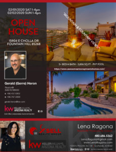 Gerald Gerre Heron Scottsdale Az Real Estate 8th 15904 E Cholla Dr Fountain Hill Flyer Lux