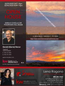Gerald Gerre Heron Scottsdale Az Real Estate 9th 15904 E Cholla Dr Fountain Hill Flyer Lux