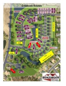 Creekside Estates Plat Map