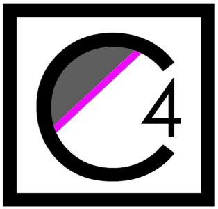C4 Real Estate Team Layton Ut Real Estate C4 Logo Black White Square Pink Stripe
